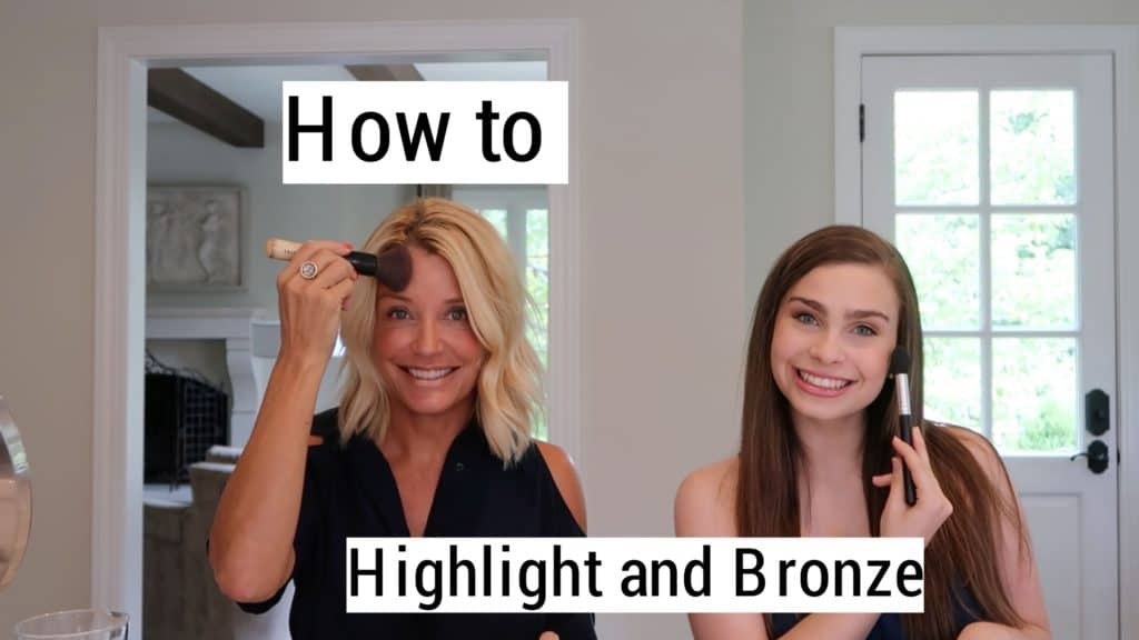 highlighter and bronzer